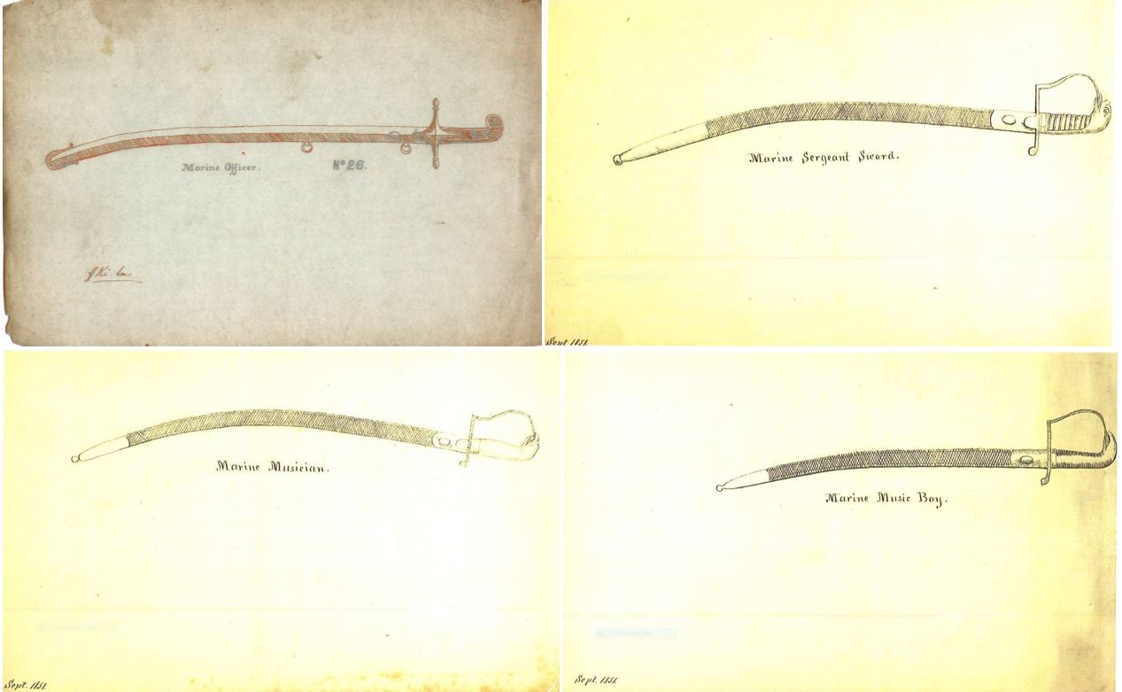 Name:  1851 Sketches Marine swords.JPG